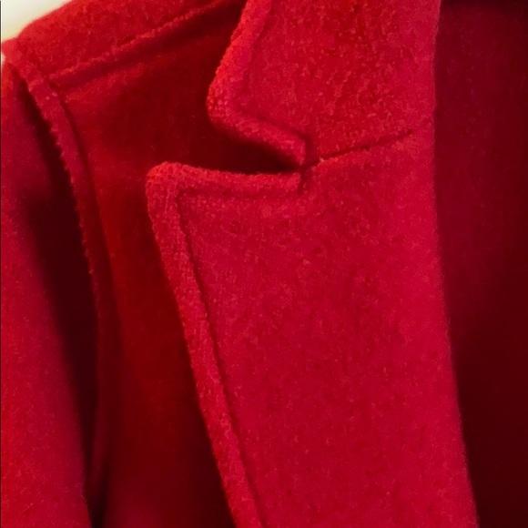 j crew wool coat red daphne